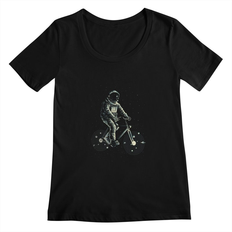 BIKESTELLAR Women's Scoopneck by lostomatos's Artist Shop