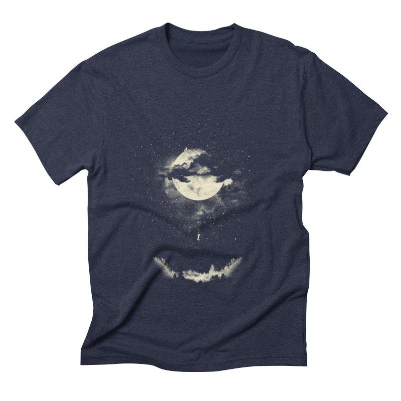 MOON CLIMBING Men's Triblend T-shirt by lostomatos's Artist Shop
