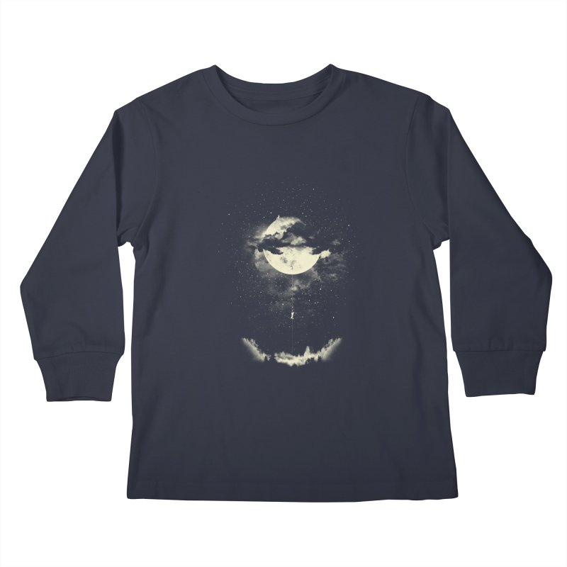 MOON CLIMBING Kids Longsleeve T-Shirt by lostomatos's Artist Shop