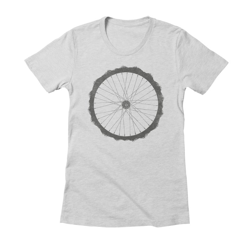 EXPLORER Women's Fitted T-Shirt by lostomatos's Artist Shop