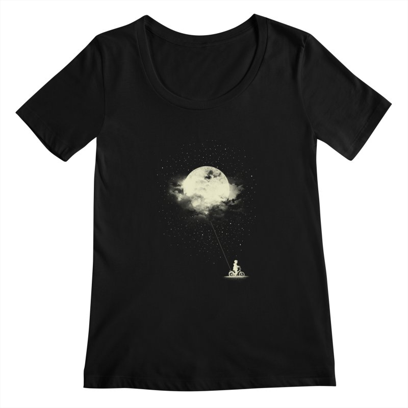 THE BOY WHO STOLE THE MOON Women's Scoopneck by lostomatos's Artist Shop