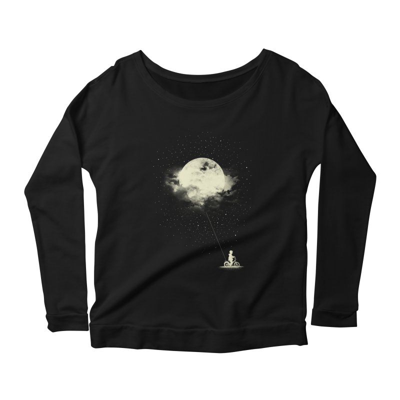 THE BOY WHO STOLE THE MOON Women's Longsleeve Scoopneck  by lostomatos's Artist Shop