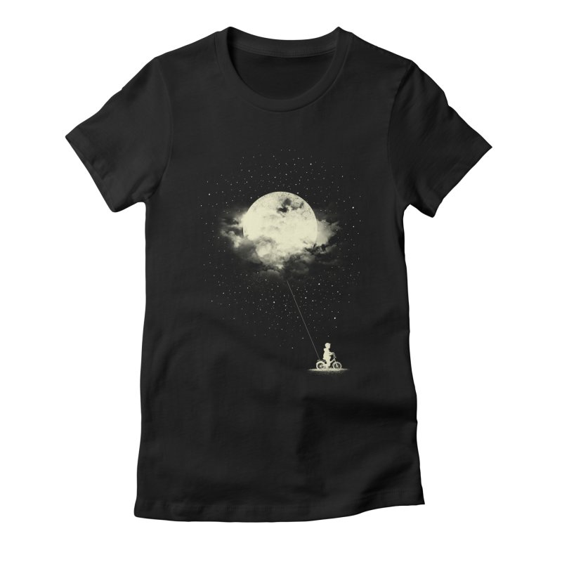 THE BOY WHO STOLE THE MOON Women's Fitted T-Shirt by lostomatos's Artist Shop