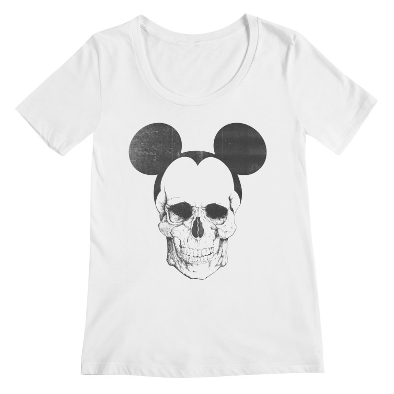 OLDSKULL FRIEND Women's Scoopneck by lostomatos's Artist Shop