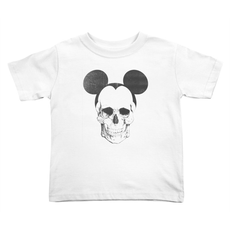 OLDSKULL FRIEND Kids Toddler T-Shirt by lostomatos's Artist Shop