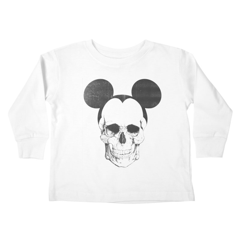 OLDSKULL FRIEND Kids Toddler Longsleeve T-Shirt by lostomatos's Artist Shop