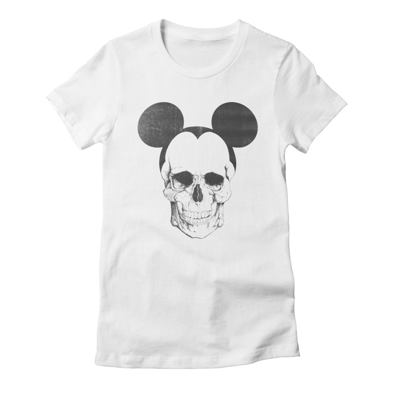 OLDSKULL FRIEND Women's Fitted T-Shirt by lostomatos's Artist Shop