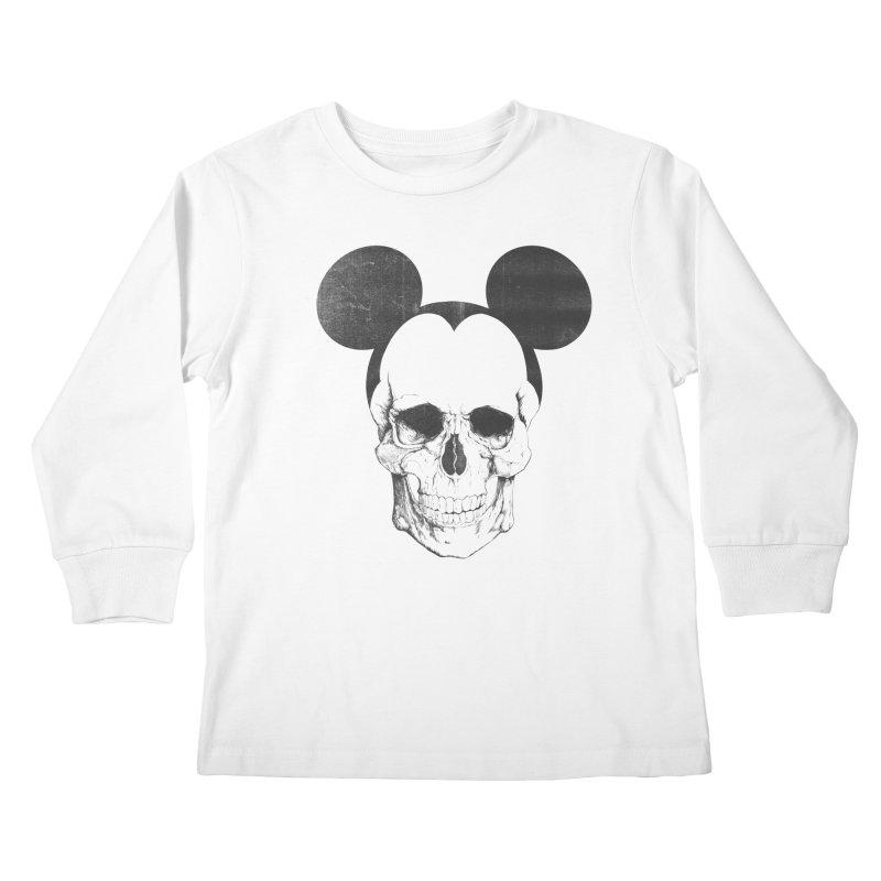 OLDSKULL FRIEND Kids Longsleeve T-Shirt by lostomatos's Artist Shop