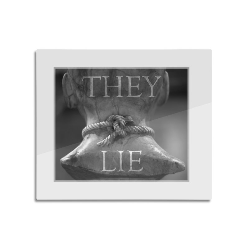 They Lie! Home Mounted Aluminum Print by lostsigil's Artist Shop