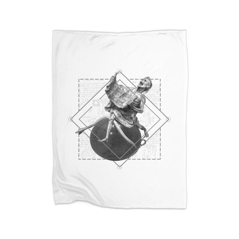 Memento Mori Home Fleece Blanket Blanket by lostsigil's Artist Shop