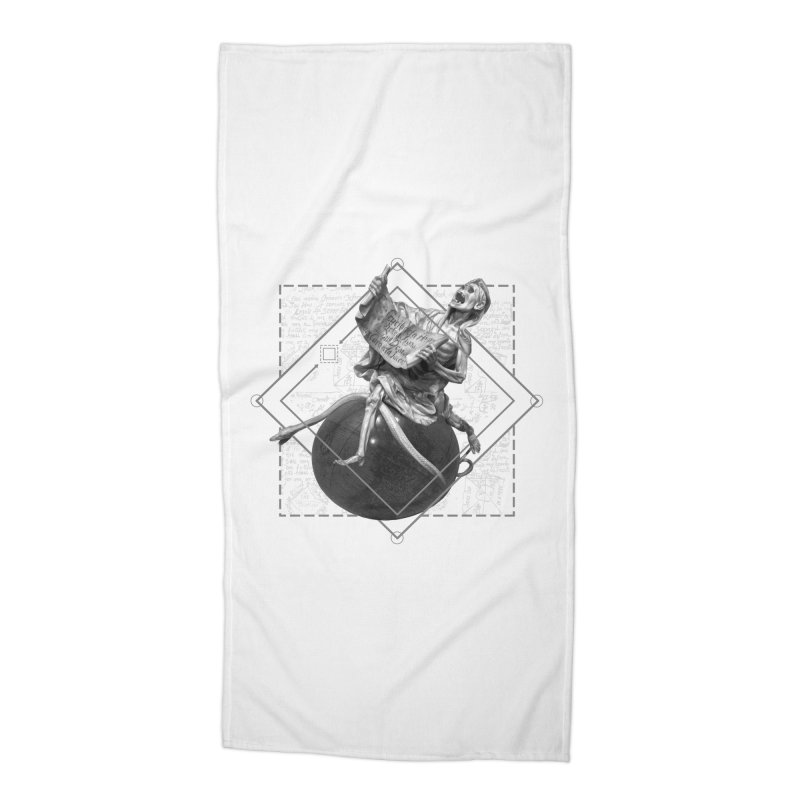 Memento Mori Accessories Beach Towel by lostsigil's Artist Shop