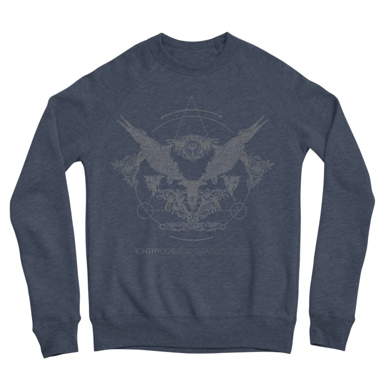 Ichthyosaurus Occultis Women's Sponge Fleece Sweatshirt by lostsigil's Artist Shop