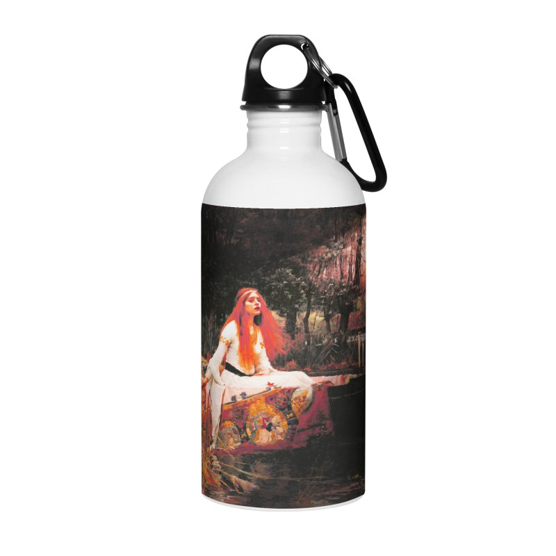 Vivid Retro - The Lady of Shalott Accessories Water Bottle by lostsigil's Artist Shop