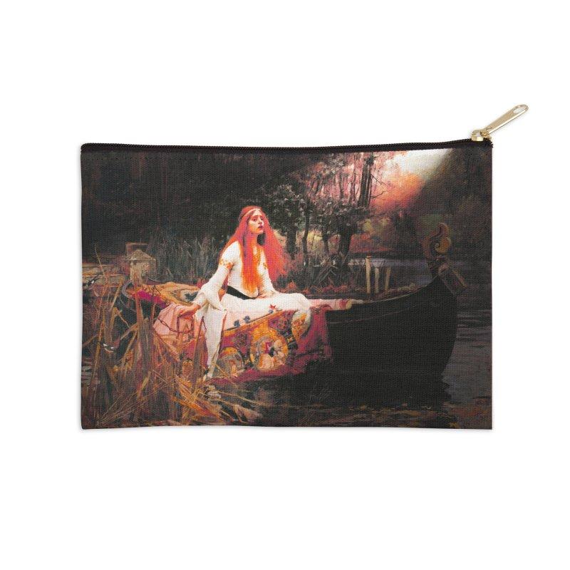 Vivid Retro - The Lady of Shalott Accessories Zip Pouch by lostsigil's Artist Shop