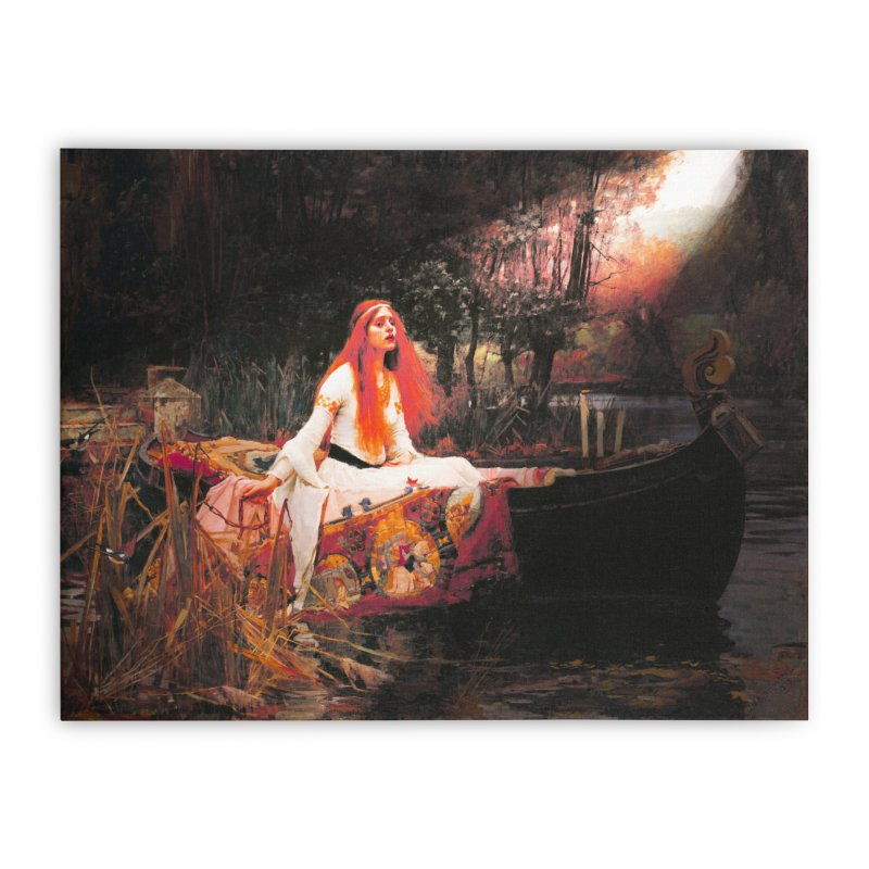 Vivid Retro - The Lady of Shalott Home Stretched Canvas by lostsigil's Artist Shop