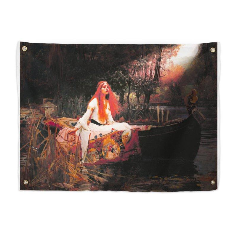 Vivid Retro - The Lady of Shalott Home Tapestry by lostsigil's Artist Shop