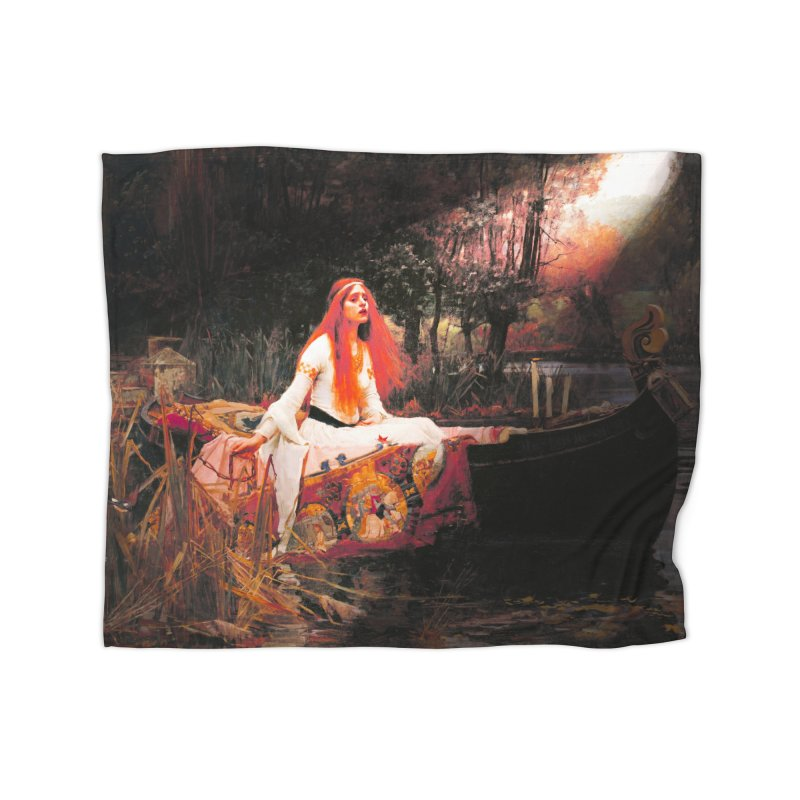 Vivid Retro - The Lady of Shalott Home Fleece Blanket Blanket by lostsigil's Artist Shop