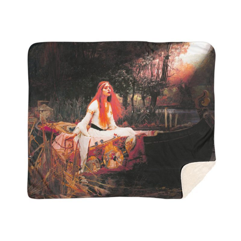 Vivid Retro - The Lady of Shalott Home Sherpa Blanket Blanket by lostsigil's Artist Shop
