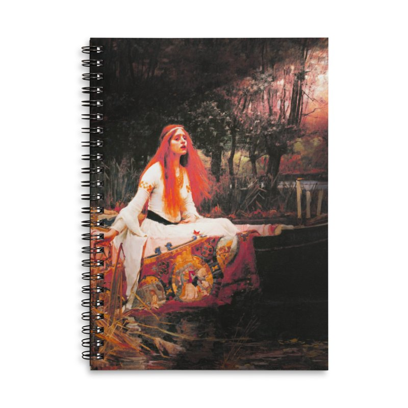Vivid Retro - The Lady of Shalott Accessories Lined Spiral Notebook by lostsigil's Artist Shop