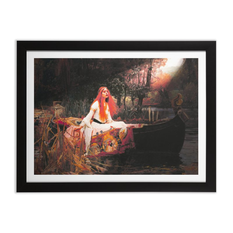 Vivid Retro - The Lady of Shalott Home Framed Fine Art Print by lostsigil's Artist Shop