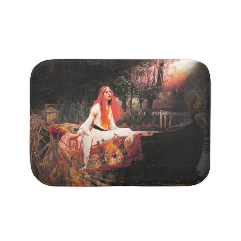 Vivid Retro - The Lady of Shalott Home Bath Mat by lostsigil's Artist Shop