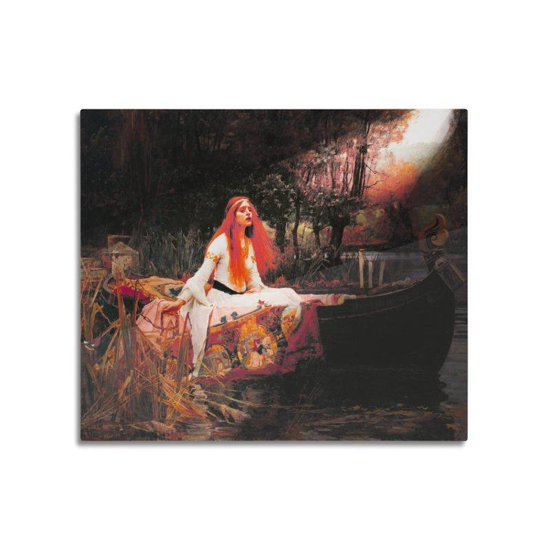 Vivid Retro - The Lady of Shalott Home Mounted Acrylic Print by lostsigil's Artist Shop