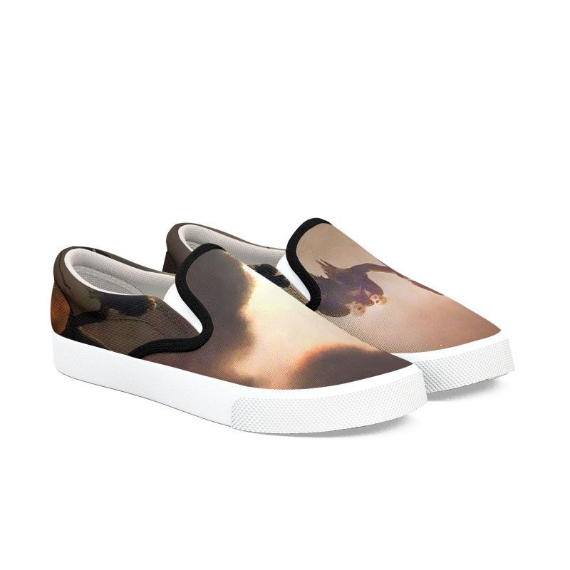Vivid Retro - Ghosts in a Tree Men's Slip-On Shoes by lostsigil's Artist Shop