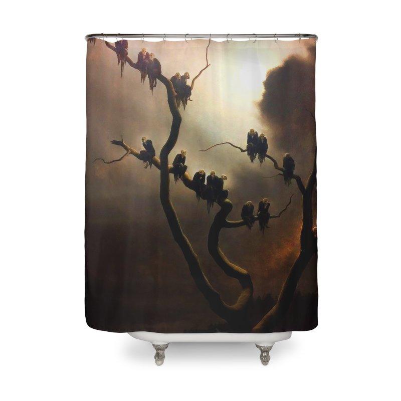 Vivid Retro - Ghosts in a Tree Home Shower Curtain by lostsigil's Artist Shop