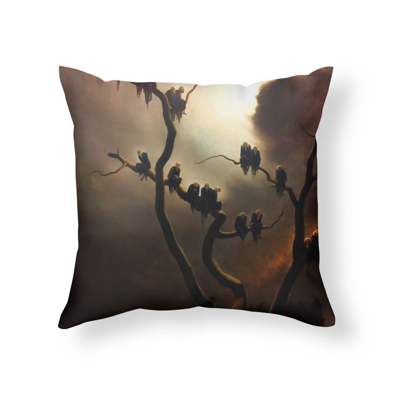 Vivid Retro - Ghosts in a Tree Home Throw Pillow by lostsigil's Artist Shop