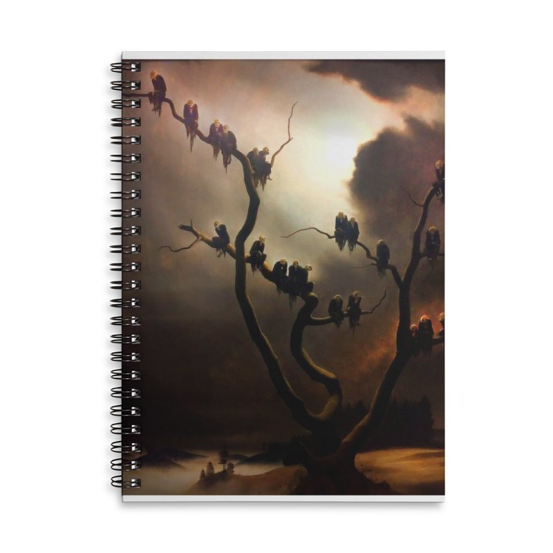 Vivid Retro - Ghosts in a Tree Accessories Lined Spiral Notebook by lostsigil's Artist Shop