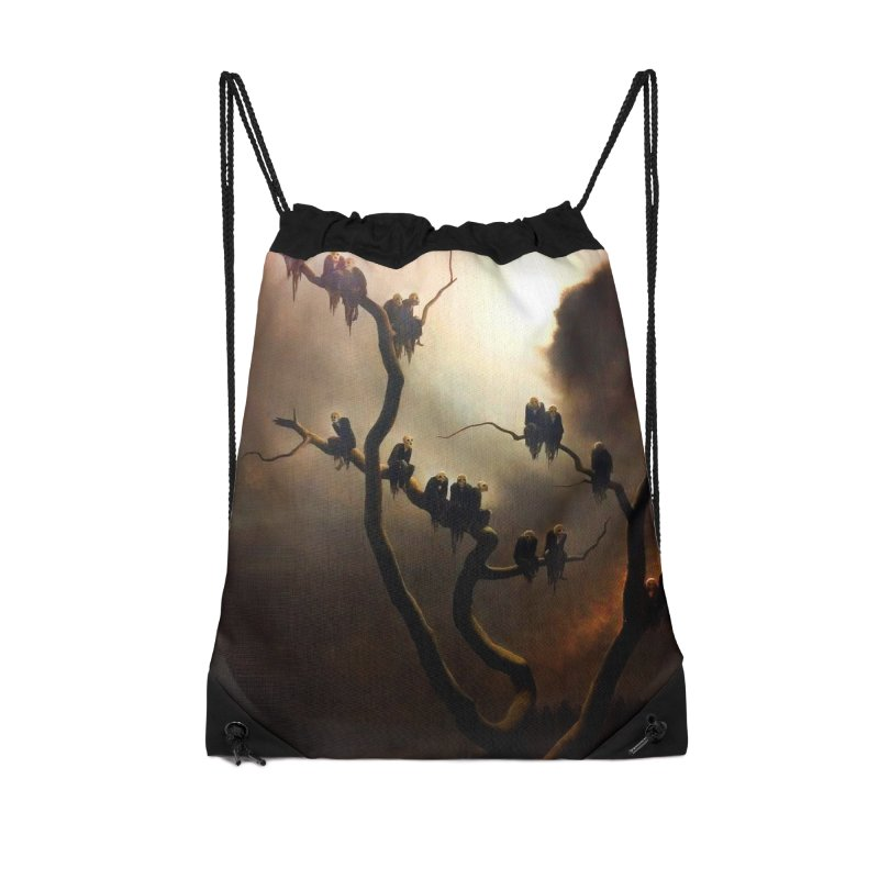 Vivid Retro - Ghosts in a Tree Accessories Drawstring Bag Bag by lostsigil's Artist Shop