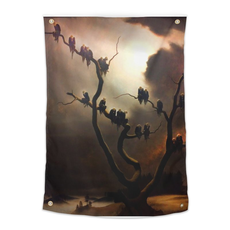 Vivid Retro - Ghosts in a Tree Home Tapestry by lostsigil's Artist Shop