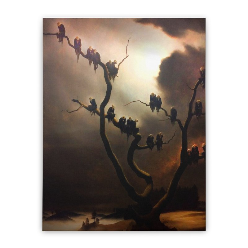 Vivid Retro - Ghosts in a Tree Home Stretched Canvas by lostsigil's Artist Shop