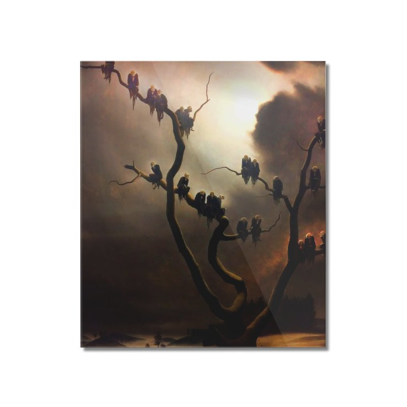 Vivid Retro - Ghosts in a Tree Home Mounted Acrylic Print by lostsigil's Artist Shop