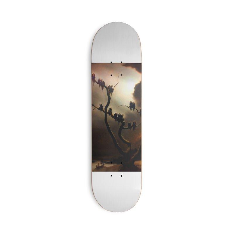 Vivid Retro - Ghosts in a Tree Accessories Deck Only Skateboard by lostsigil's Artist Shop