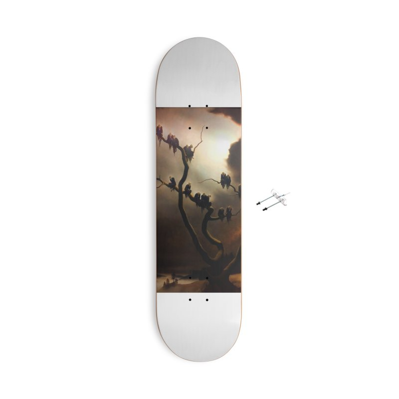 Vivid Retro - Ghosts in a Tree Accessories With Hanging Hardware Skateboard by lostsigil's Artist Shop