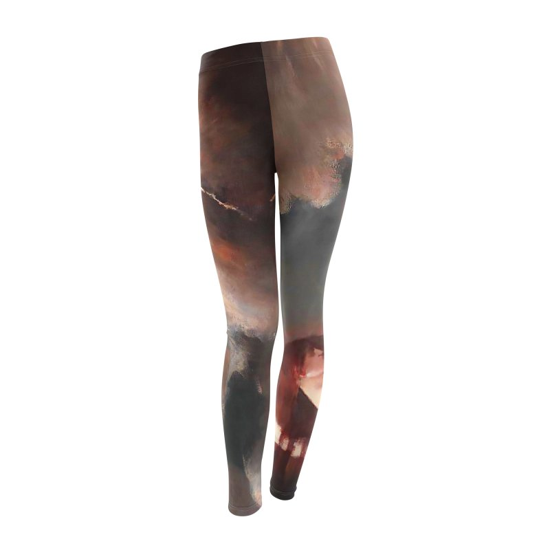 Vivid Retro - The Spirit of the New Moon Women's Leggings Bottoms by lostsigil's Artist Shop