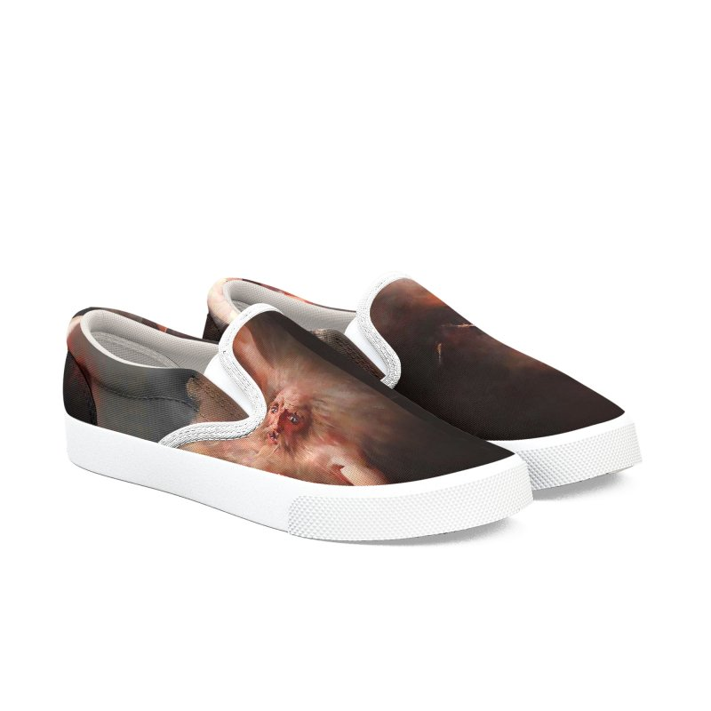 Vivid Retro - The Spirit of the New Moon Men's Slip-On Shoes by lostsigil's Artist Shop