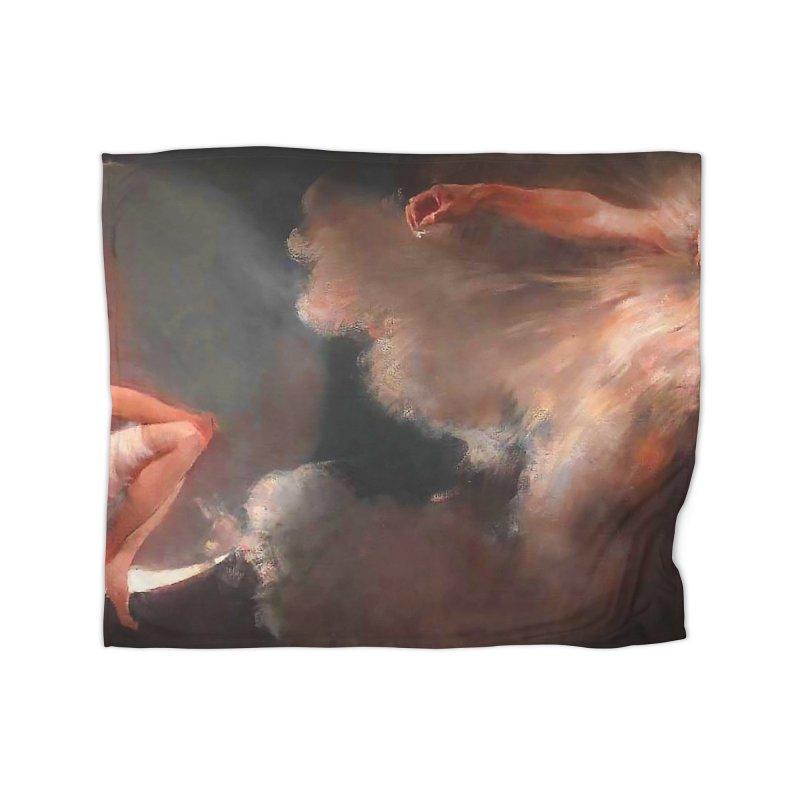 Vivid Retro - The Spirit of the New Moon Home Fleece Blanket Blanket by lostsigil's Artist Shop