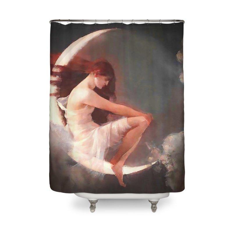 Vivid Retro - The Spirit of the New Moon Home Shower Curtain by lostsigil's Artist Shop