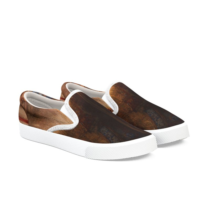 Vivid Retro - The Apparition Men's Slip-On Shoes by lostsigil's Artist Shop