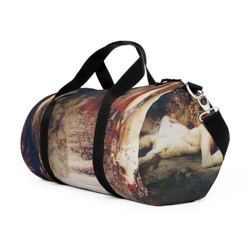 Vivid Retro - Hercules and the Lernean Hydra Accessories Duffel Bag Bag by lostsigil's Artist Shop