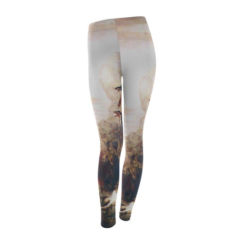 Vivid Retro - Hercules and the Lernean Hydra Women's Leggings Bottoms by lostsigil's Artist Shop