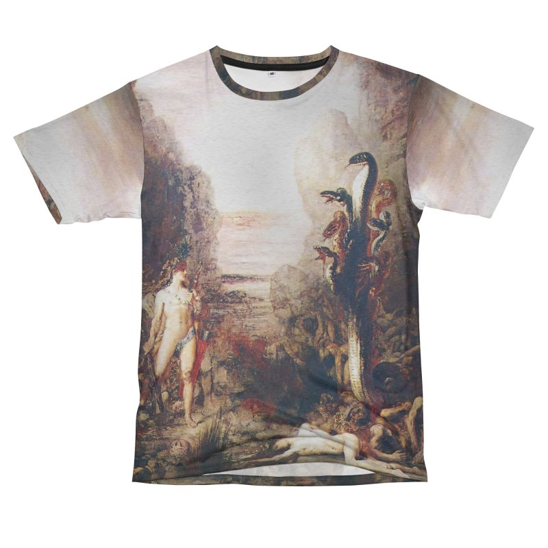 Vivid Retro - Hercules and the Lernean Hydra Men's French Terry T-Shirt Cut & Sew by lostsigil's Artist Shop