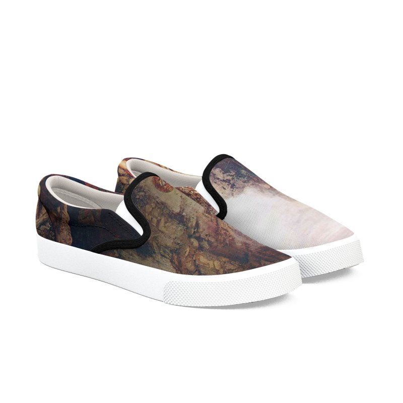Vivid Retro - Hercules and the Lernean Hydra Men's Slip-On Shoes by lostsigil's Artist Shop