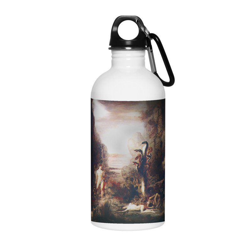 Vivid Retro - Hercules and the Lernean Hydra Accessories Water Bottle by lostsigil's Artist Shop