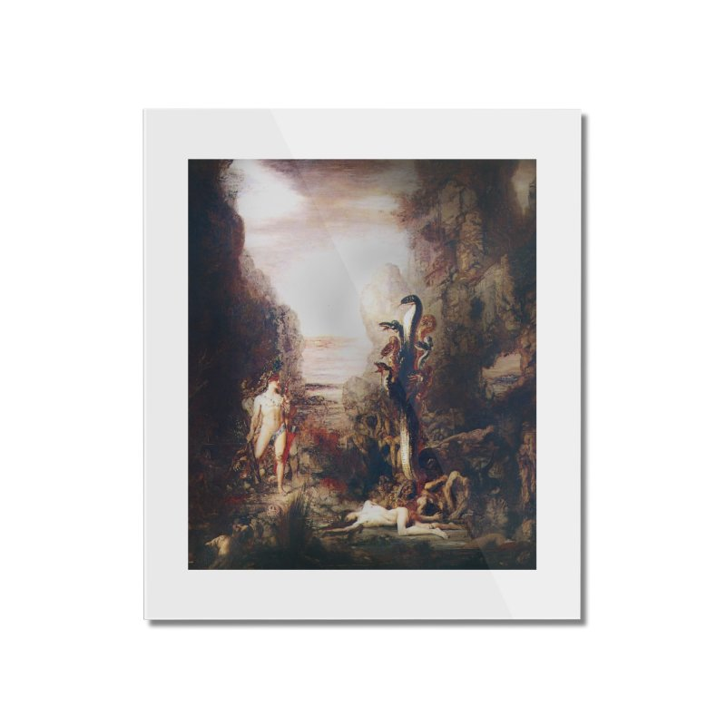 Vivid Retro - Hercules and the Lernean Hydra Home Mounted Acrylic Print by lostsigil's Artist Shop