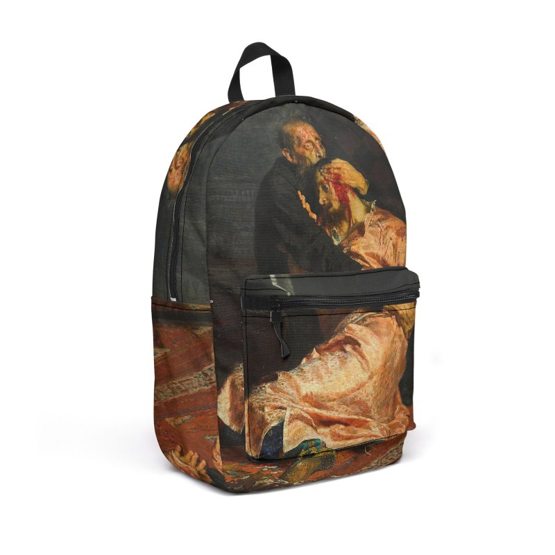 Vivid Retro - Ivan the Terrible and His Son Ivan Accessories Backpack Bag by lostsigil's Artist Shop