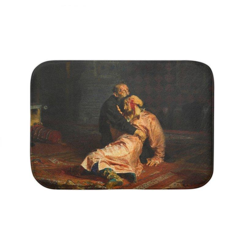 Vivid Retro - Ivan the Terrible and His Son Ivan Home Bath Mat by lostsigil's Artist Shop