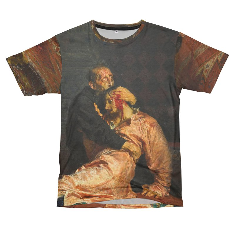 Vivid Retro - Ivan the Terrible and His Son Ivan Men's French Terry T-Shirt Cut & Sew by lostsigil's Artist Shop